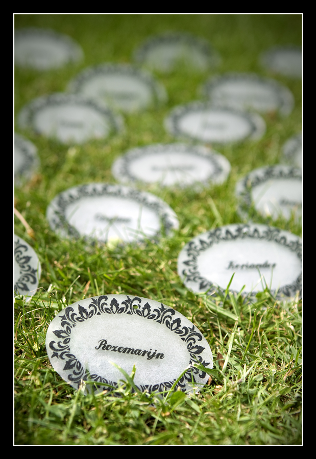 Ornate plant labels