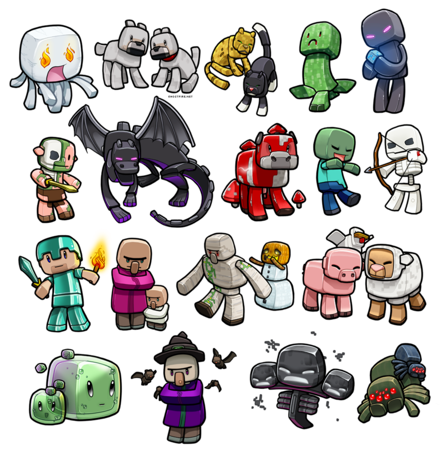 Minecraft Fan Art Chibi Mobs 2 By Minecraftchannel On Deviantart