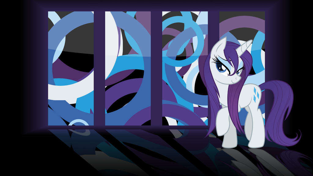 Rarity Panels Wallpaper by Glitcher007