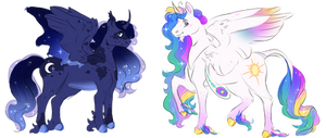 Celestia and Luna: Headcanons / Redesign