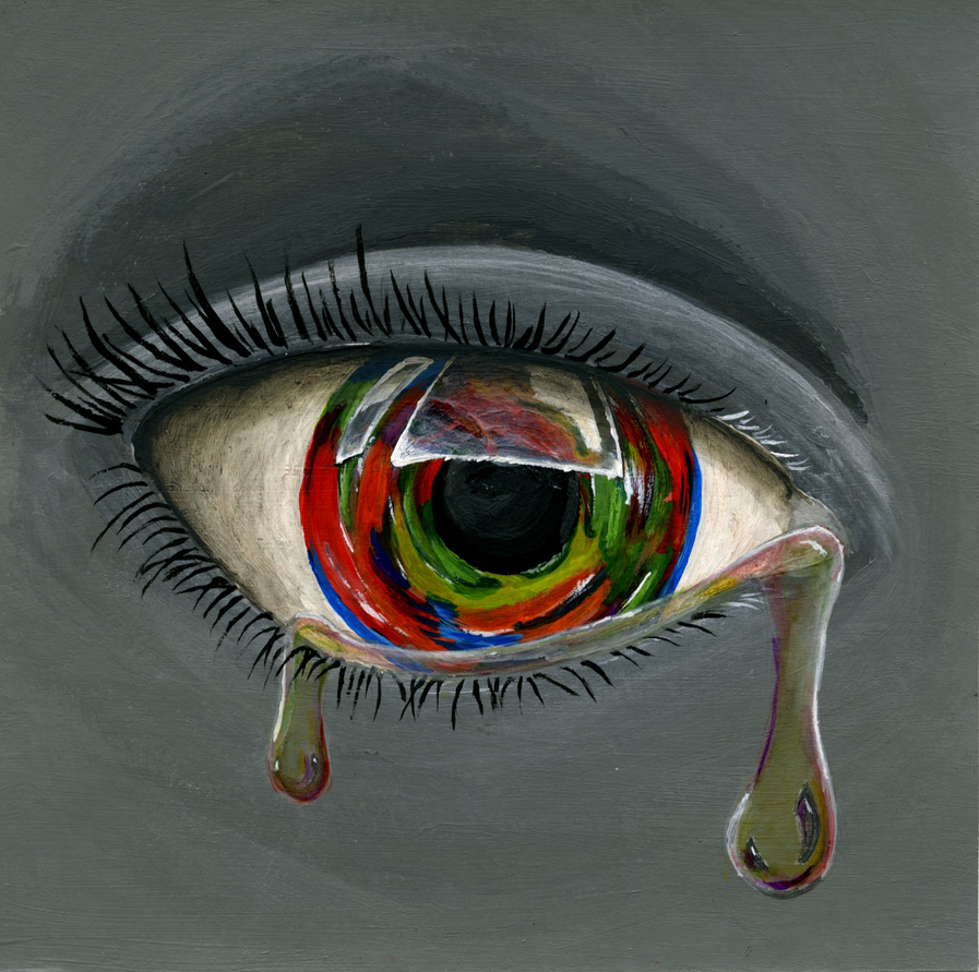 Eyes Crying Painting Crying Eye by Lucariousmenos