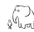 elephant eating people by Squidgevege