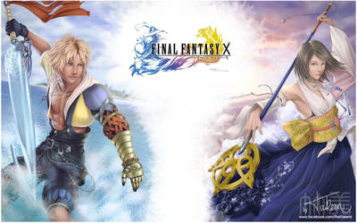 Final Fantasy X - Tidus and Yuna by TheTakemi