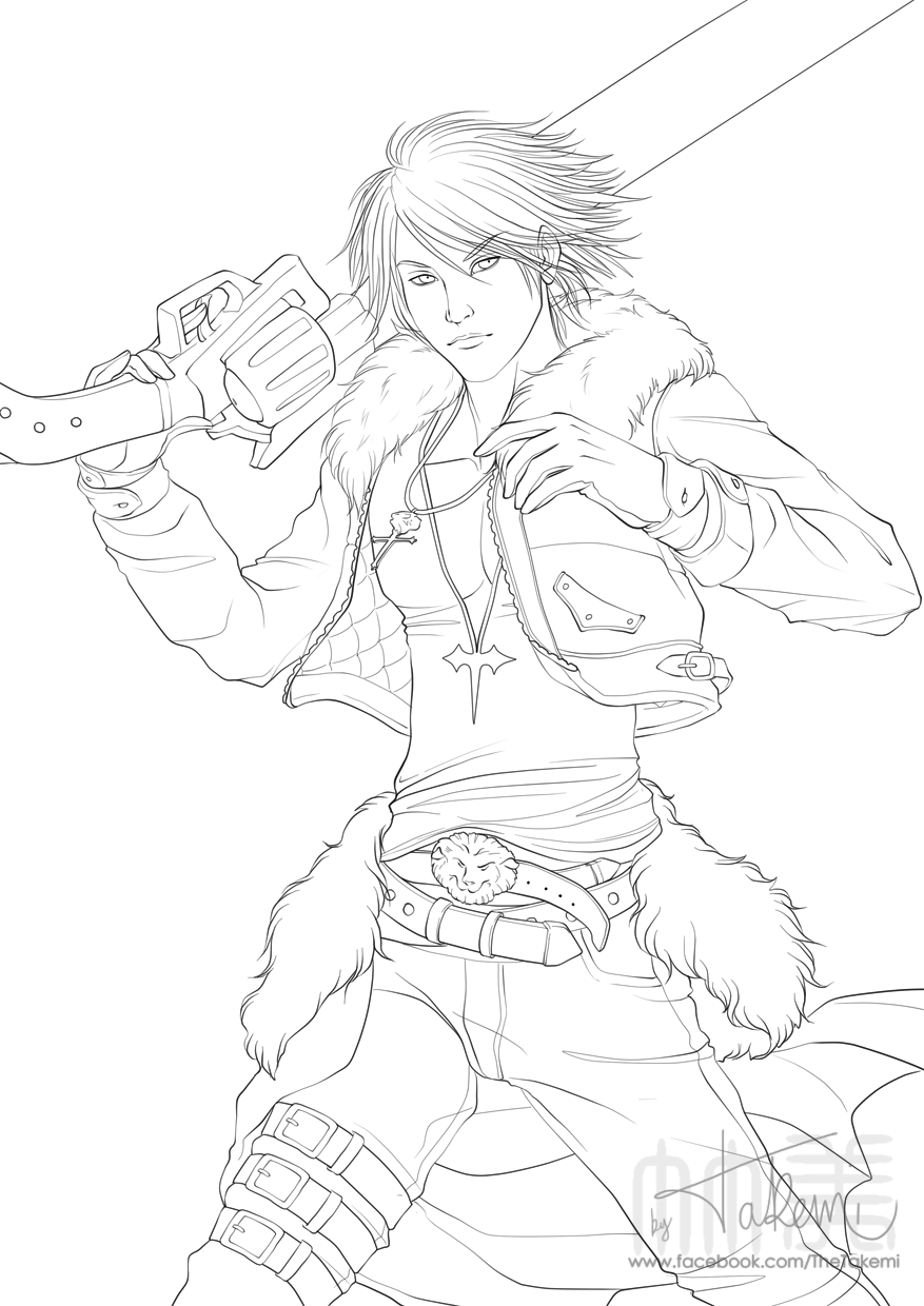 final fantasy 8 squall leonhart by thetakemi on deviantart
