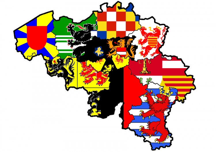 belgian provinces flag map by heersander