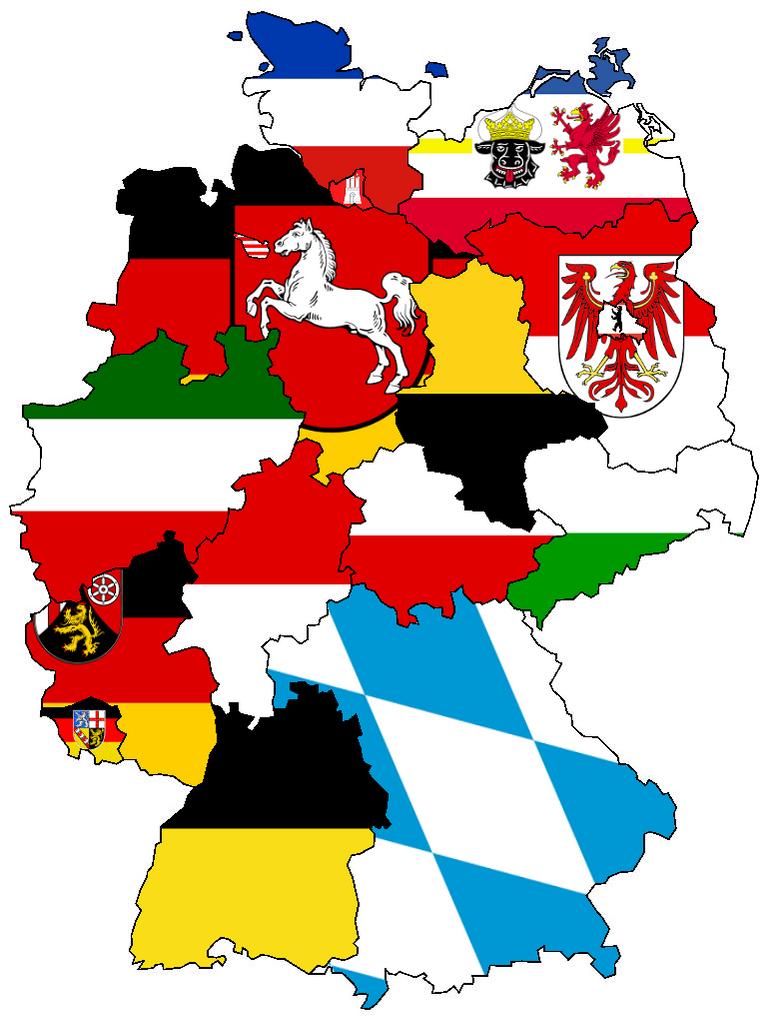 German States - Flag Map by HeerSander on DeviantArt