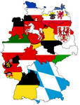 German States - Flag Map