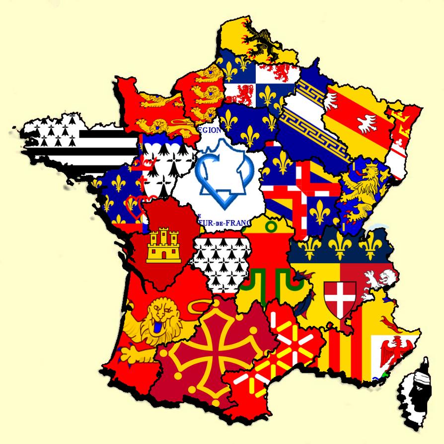 French Regions Flag Map by HeerSander on DeviantArt
