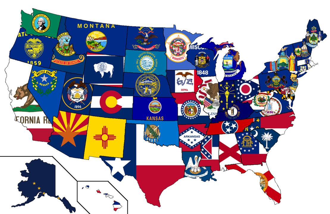 United States - Flag Map by HeerSander on DeviantArt