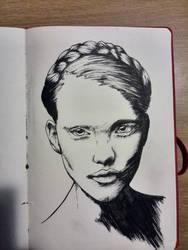 brush pen sketch