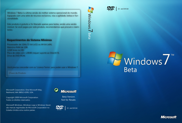 Cover Windows7 Beta Multi-Bit by ViXPta