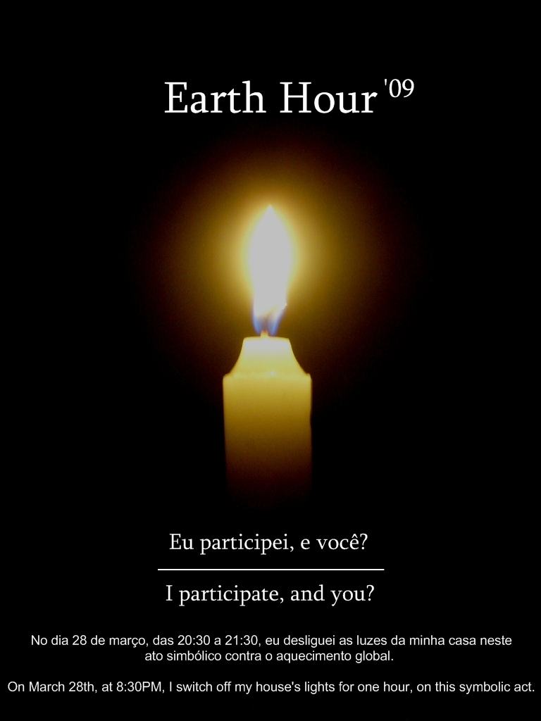 Earth Hour Candle by ViXPta