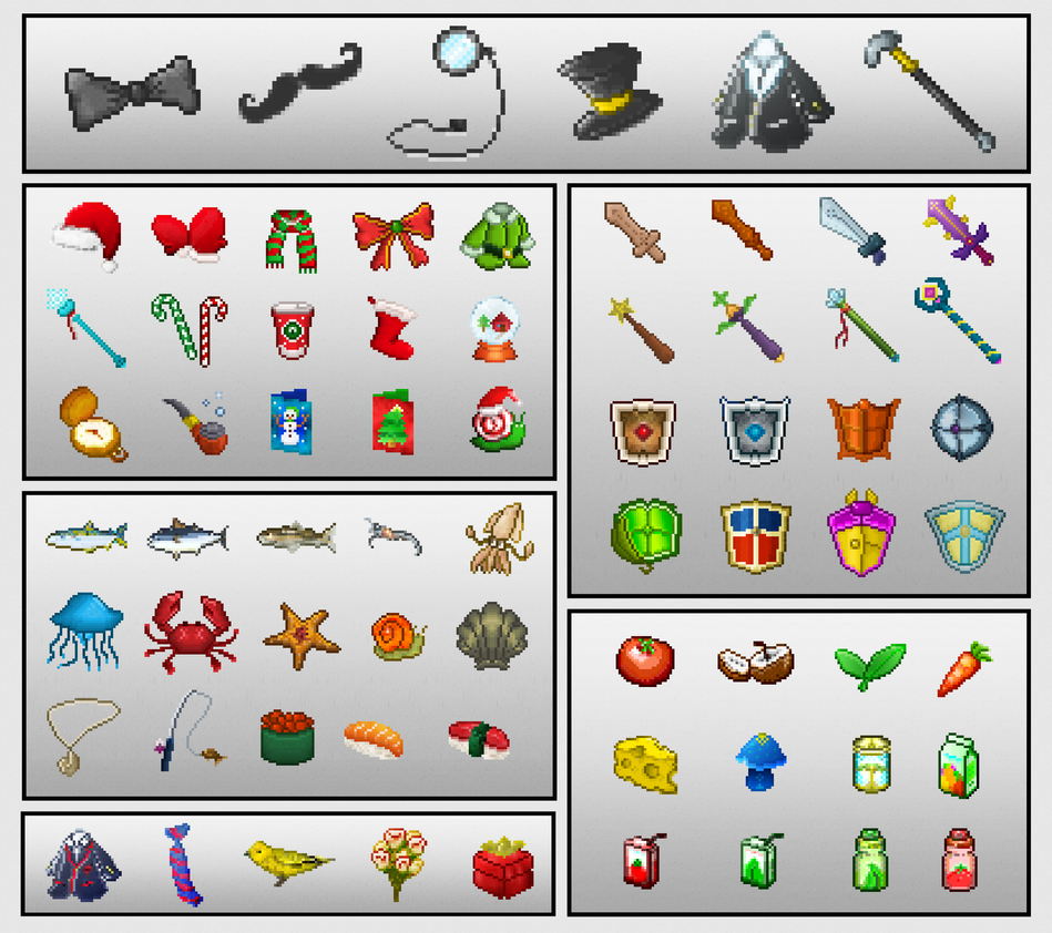 Pixel Art: Objects Sprite Sheet by beeto456 on DeviantArt