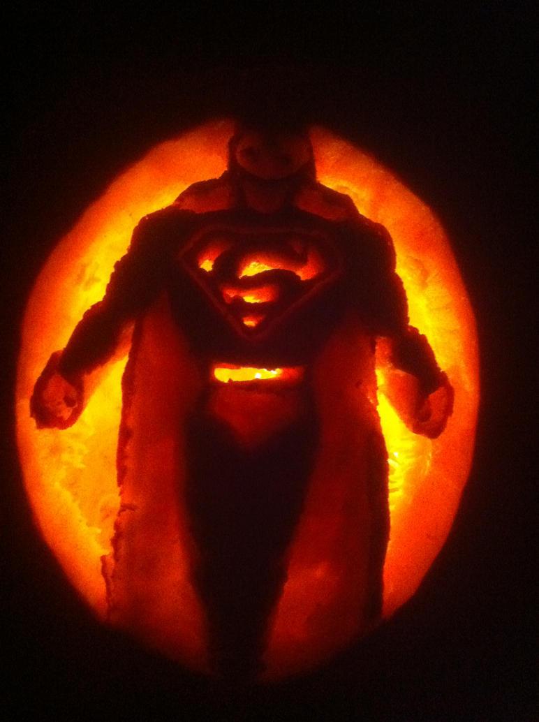 Superman Pumpkin By Axel Knight On Deviantart