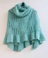 Pastel teal big shawl by dosiak