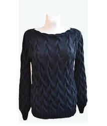 Black silk sweater by dosiak