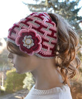 Messy Bun Hat,cap,  Ponytail Hole Crocheted by dosiak