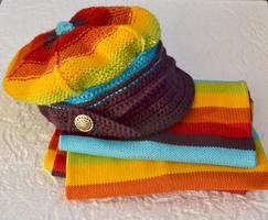 Colorfull winter set