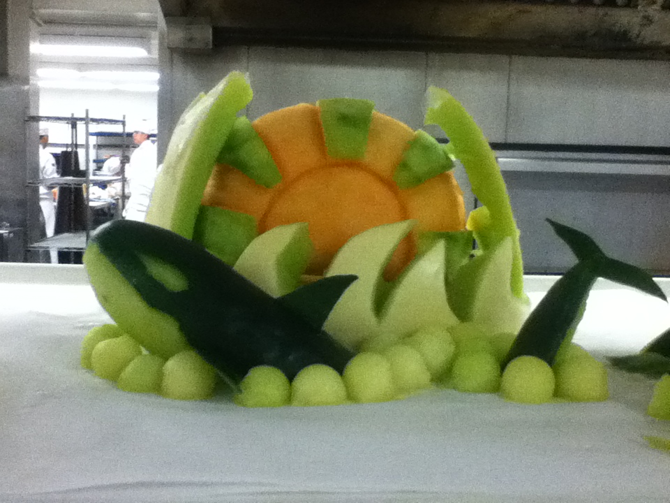 Fruit whale carving by art on deviantart