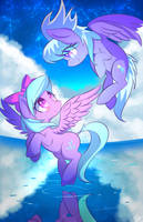 Flitter + Cloudchaser by kawaiipony2