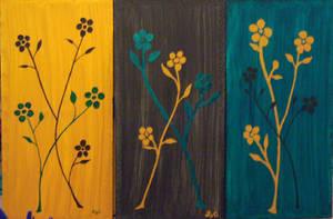 Tri- Color Flowers by azkardchic