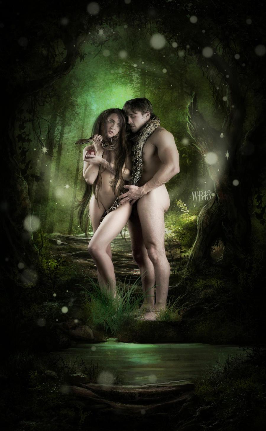 adam and eve by wickedbutterflly on deviantart