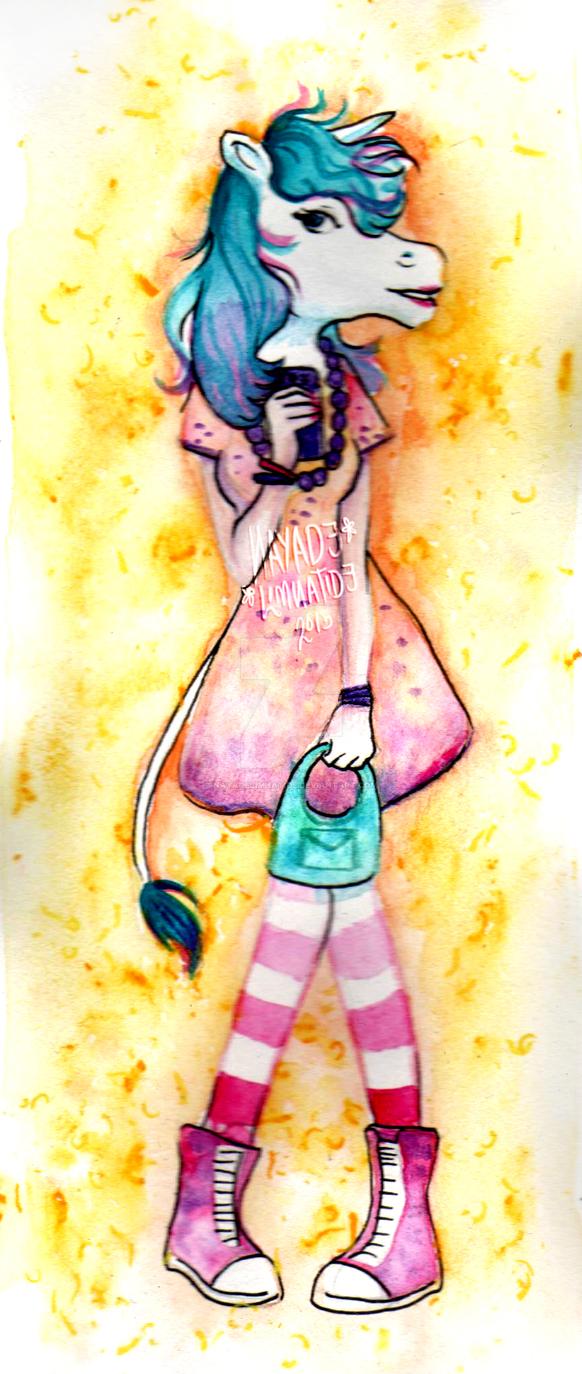Unicorn girl by NayadeLimnatide