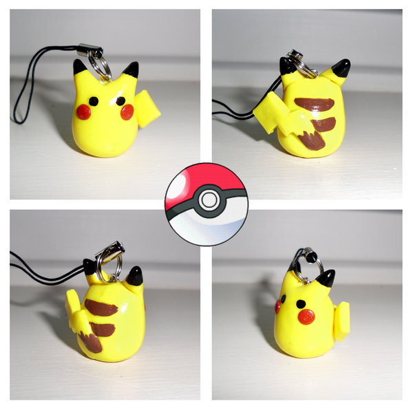 Poke-Peeps Cellphone Charm - Pikachu by UniqueTreats