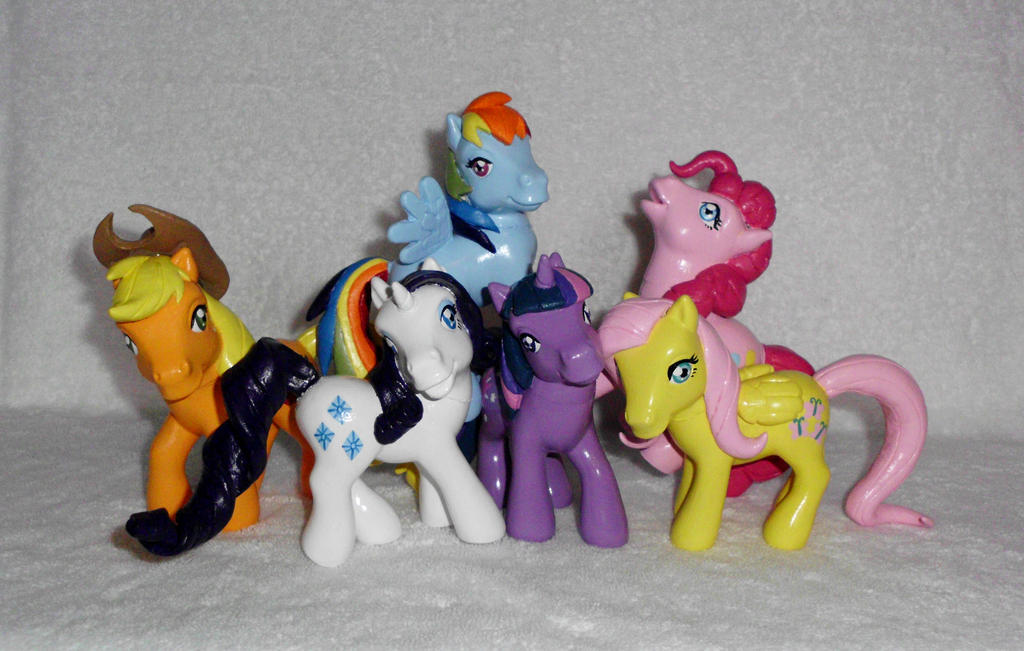 * FOR SALE! * MLP ''Old Meets New'' Custom Group 3 by UniqueTreats