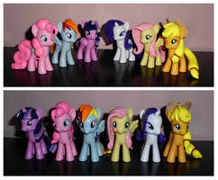 MLP: FiM ''Mane Six'' Custom Sculpt Set 1 by UniqueTreats