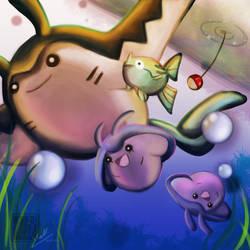 Underwater Family by YaruYeLL