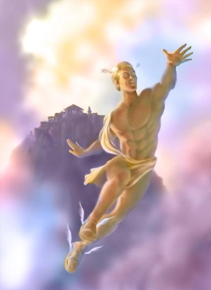 LUZ DE DIOS Hermes_by_astrosketch