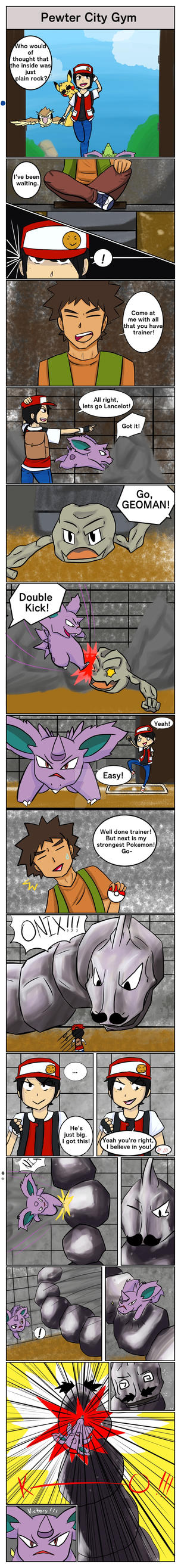 Pokemon Yellow: The first gym is rocky by Pokyeater