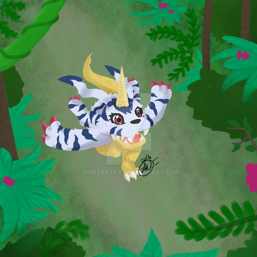 Gabumon running by Pokyeater