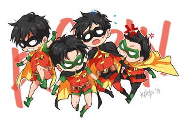 Baby Robins by derpykaichu