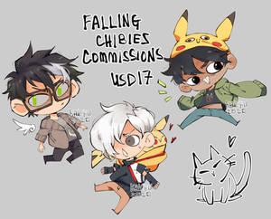 Falling/floating chibi commissions