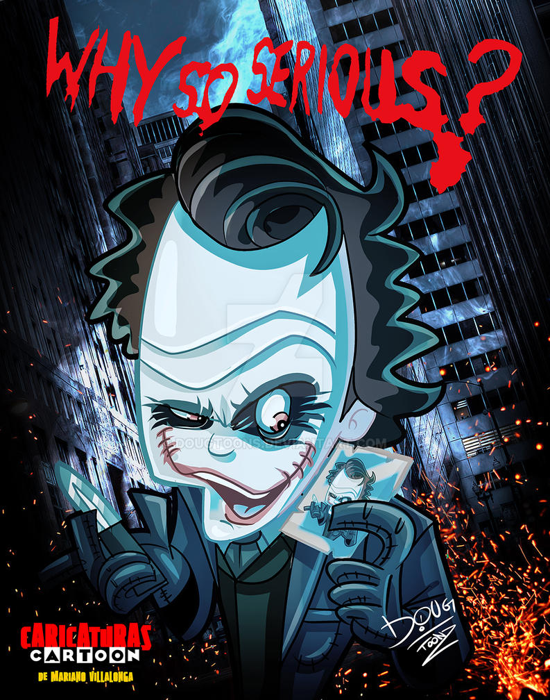 Joker Cartoon Caricature by dougtoons