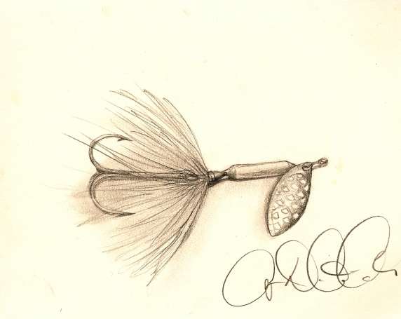 Rooster tail fishing lure by audreydc1983 on deviantart for Rooster tail fishing lure