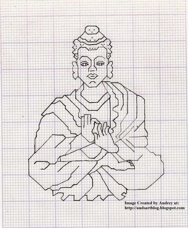 Buddha Cross Stitch Pattern by audreydc1983