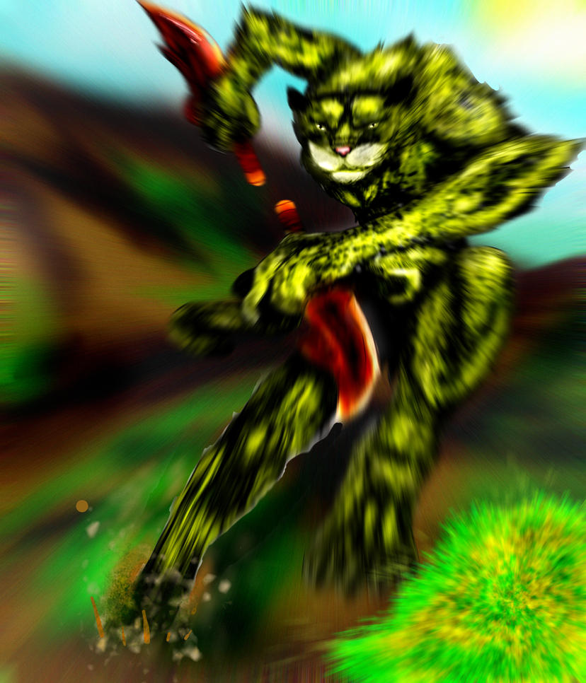 Cheetah Warrior CHARGE by pinafta1 on deviantART