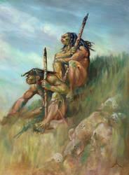 Two cavemen by Moulunerie