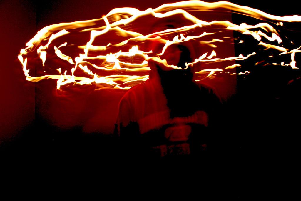 Flames~Light Painting by fizzynerd