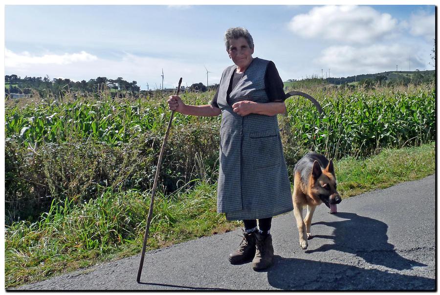 Woman With Dog by kiebitz