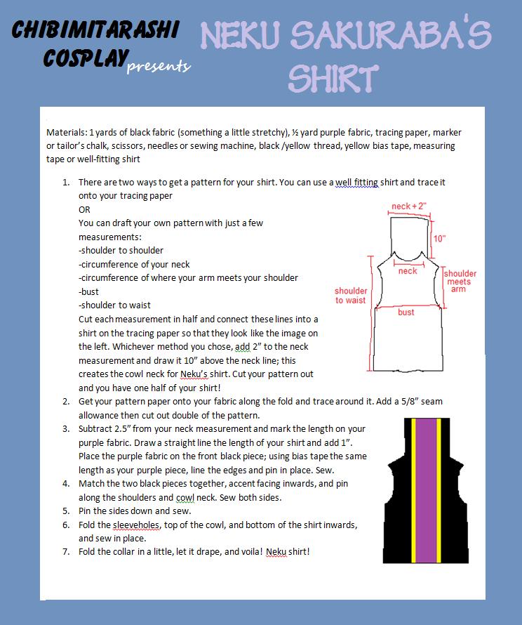 TWEWY Neku Sakuraba : Shirt Tutorial by ChibiMitarashi