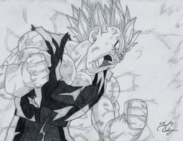 Vegeta's Rage by dsx100