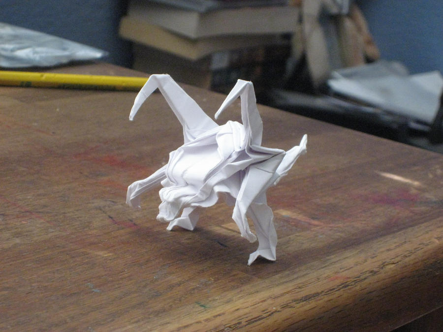 Origami Zergling V.5 by derikvyreflame