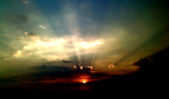 Nightfall Through the Clouds