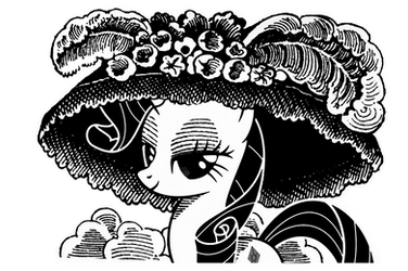 Rarity la Catrina by tamalesyatole