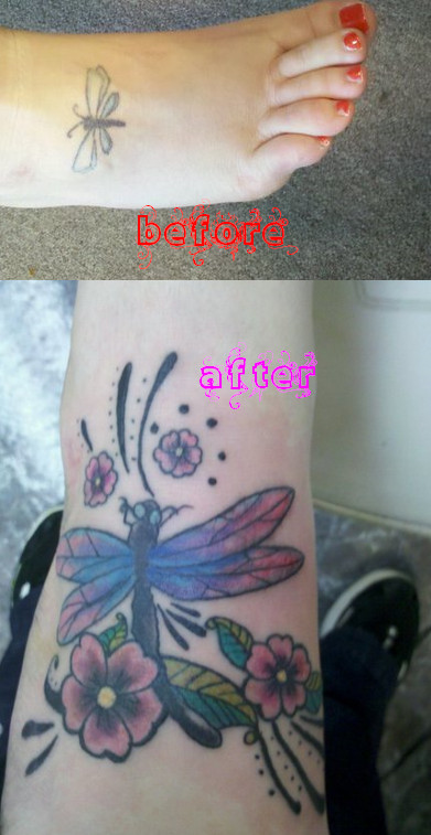 Dragonfly Cover up - dragonfly tattoo