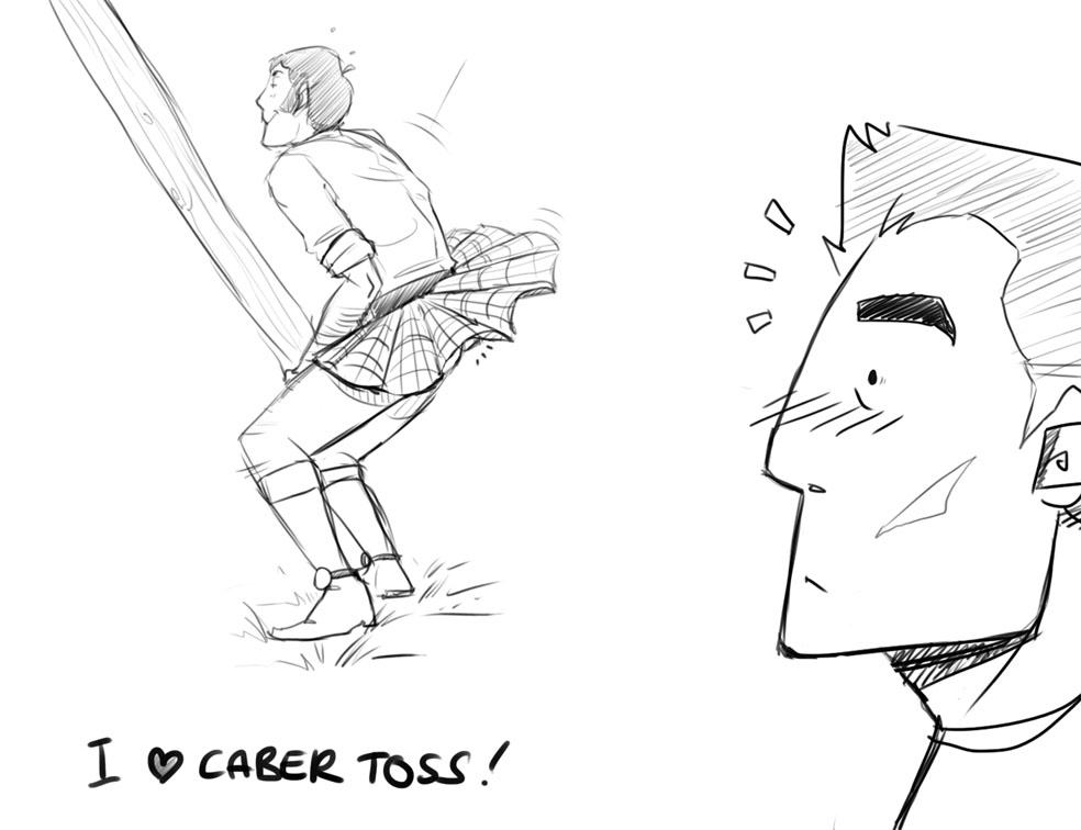 CABER TOSS by kamidog
